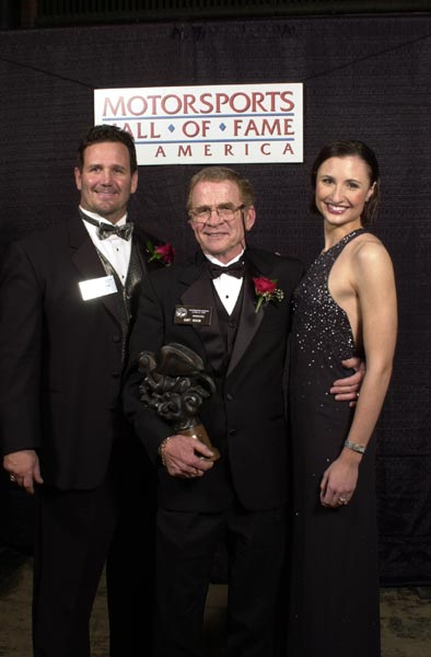 Award-presenter-Jim-Duffner--Gary-Nixon-and-Motorsports-Hostess