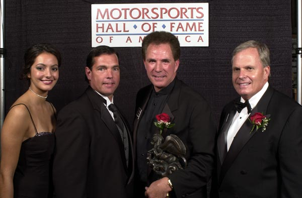 Motorsports-Hostess--Jeff-Hammond--Darrell-Waltrip-and-Rick Hendrick