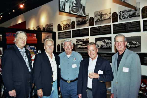 Bob-Snodgrass--Bill-Simpson--Bobby-Allison--Hurley-Haywood-and-Ned-Jarrett-at-reception-at-Hall-of-Fame
