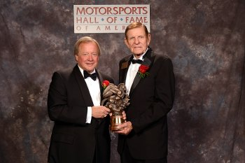 Edsel Ford II with inductee Bud Moore at the 2013 MSHFA Induction Ceremony