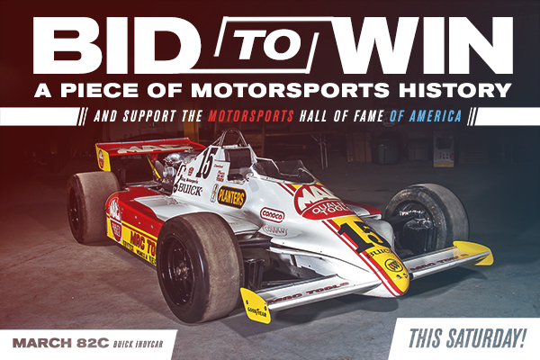 NEWS: Bid to Win a Piece of Motorsports History this Saturday, July 18